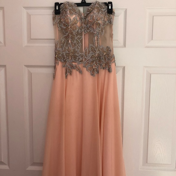 Tiffany Designs Dresses & Skirts - PEACH PROM DRESS - WORN ONCE